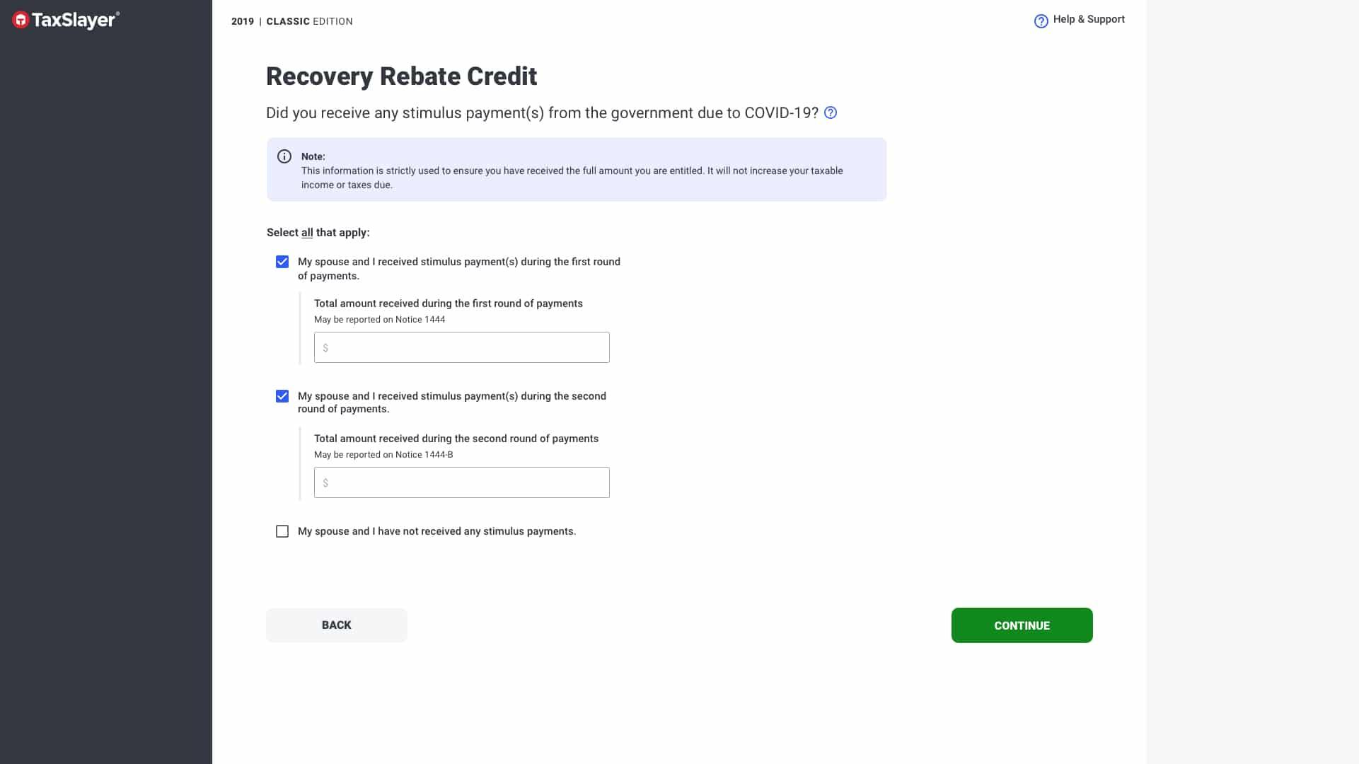 Crédito de reembolso por recuperación de TaxSlayer