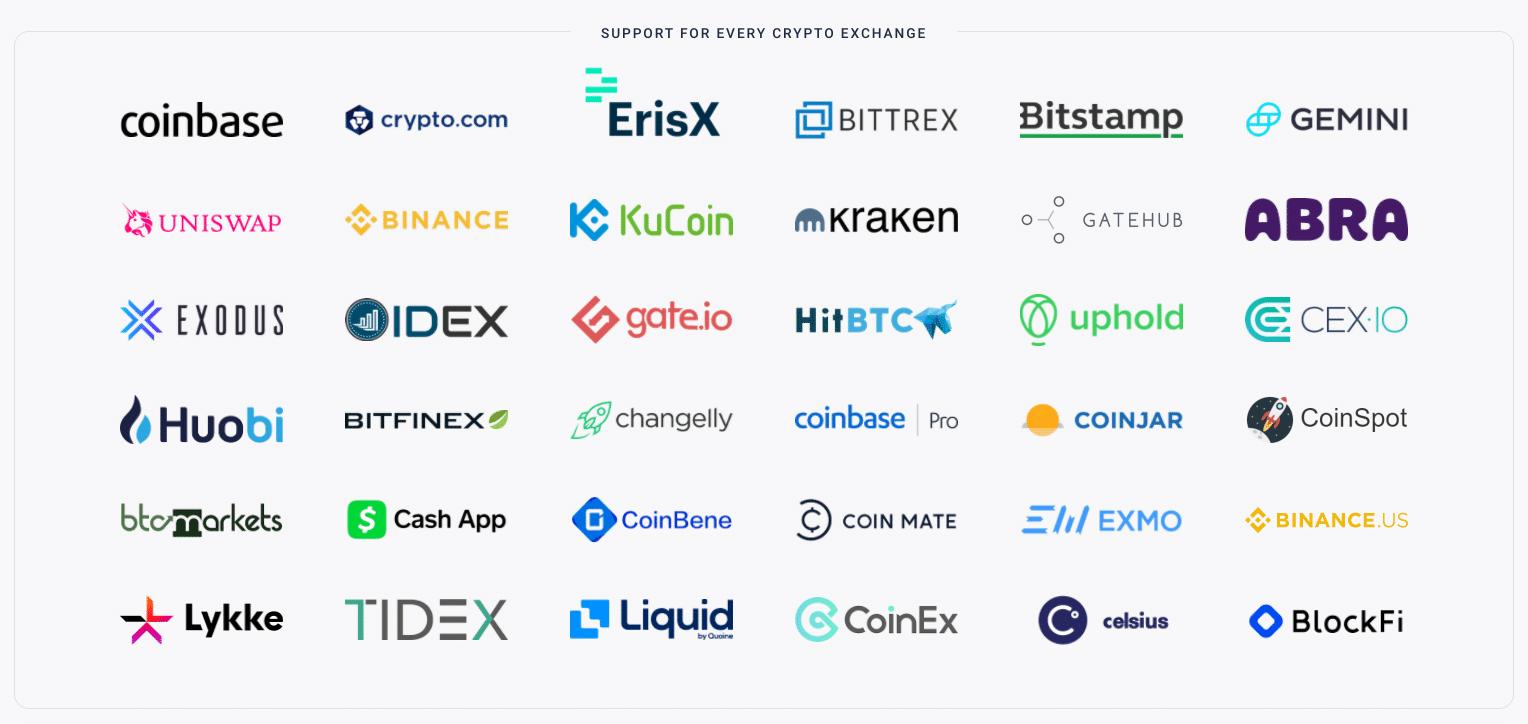 Integraciones de CryptoTrader.Tax Exchange