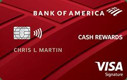 Tarjeta de reembolso para estudiantes de Bank of America
