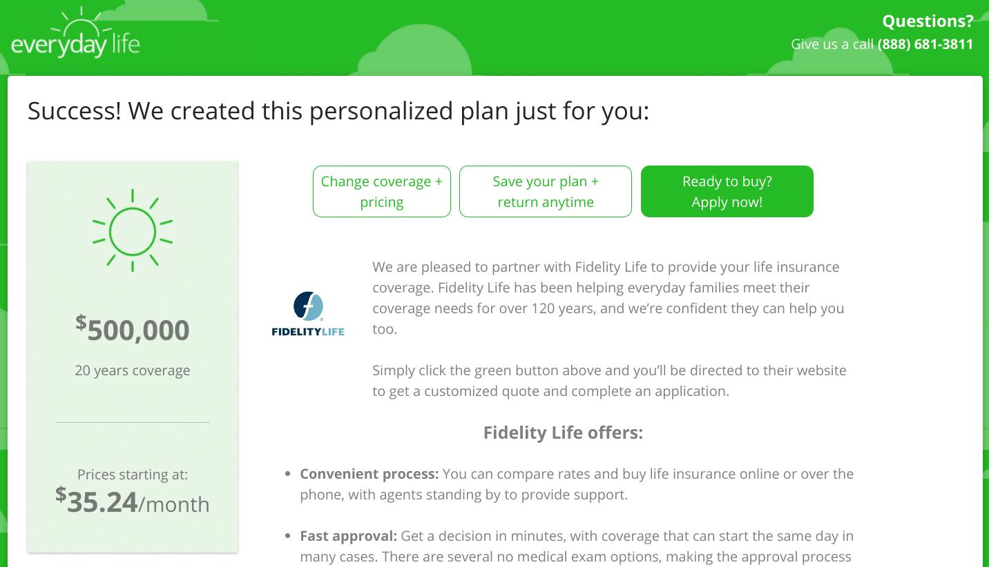 Cotización de seguro de vida diaria