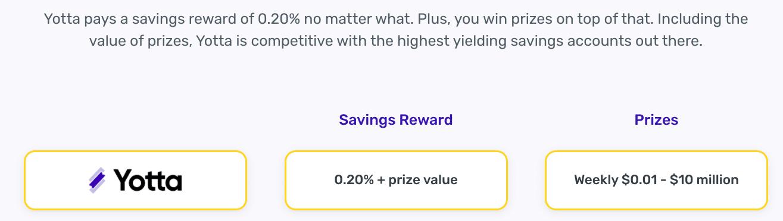 Recompensas de ahorro de Yotta