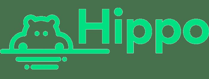 Logotipo de seguro de hipopótamo