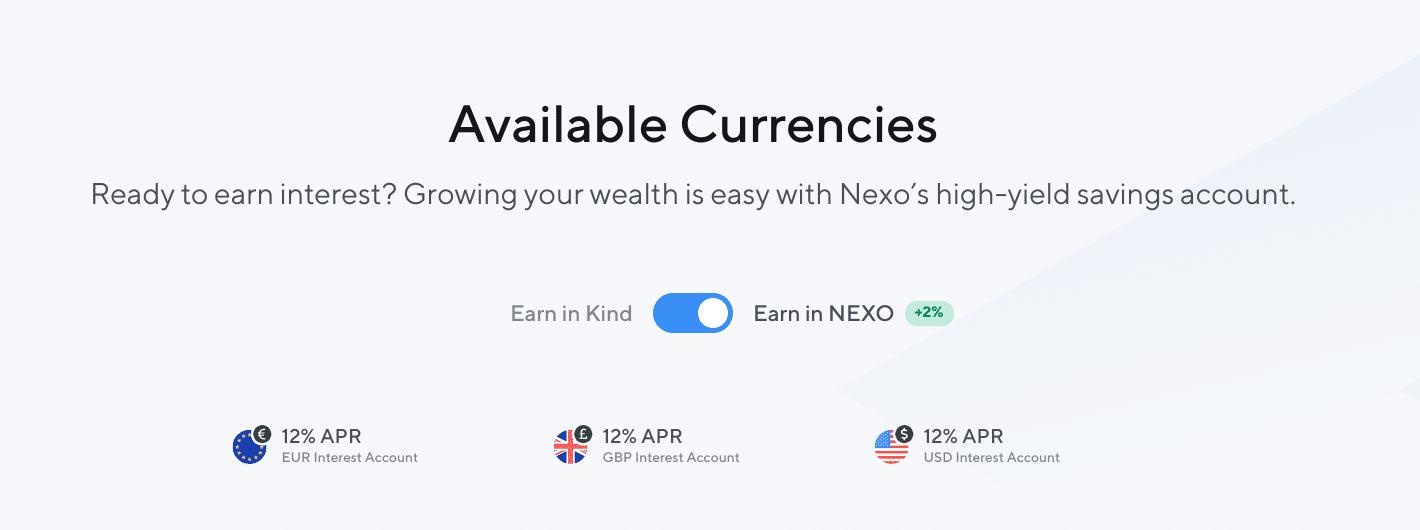 Interés de Nexo en Fiat