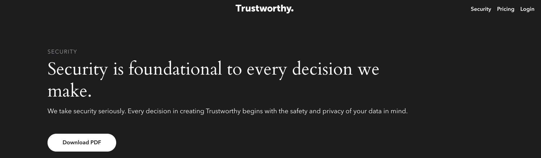 Seguridad en la que puede confiar